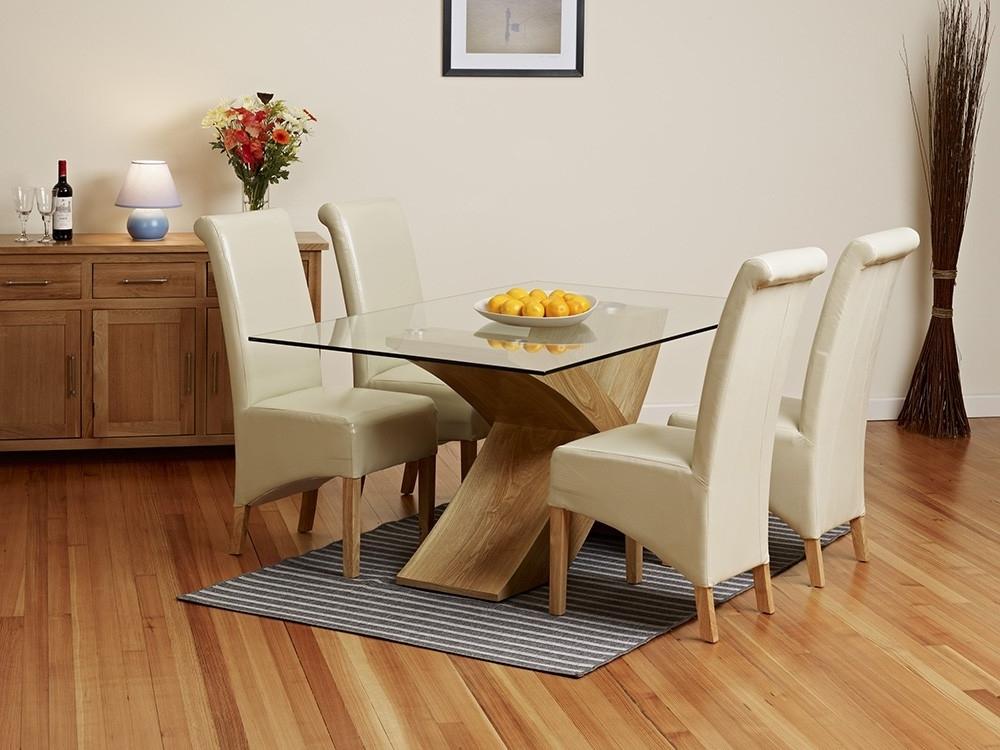 Small Glass Top Dining Room Tables – Glass Top Dining Room Tables With Most Current Oak And Glass Dining Tables And Chairs (View 17 of 20)