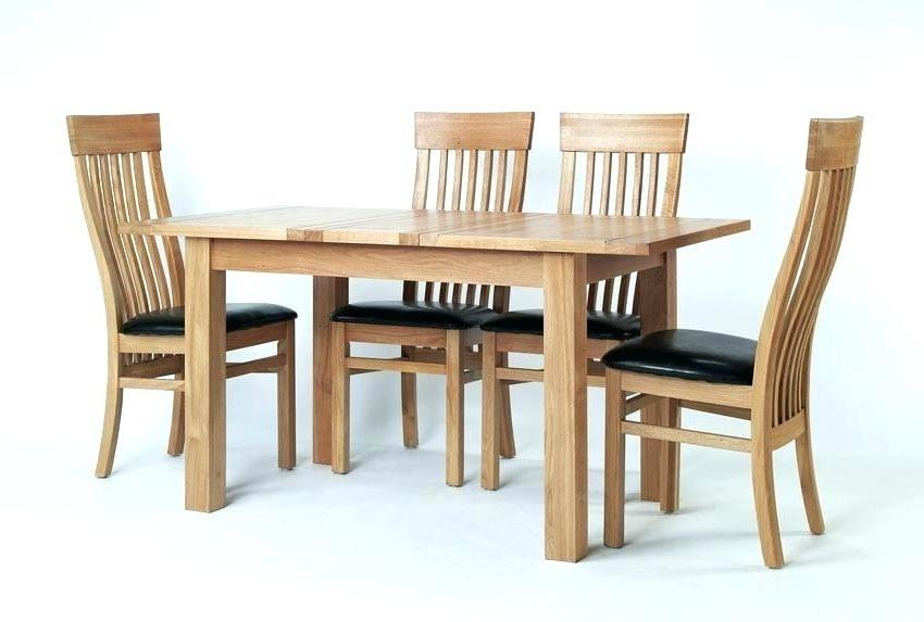 Small Oak Dining Tables Throughout Most Recently Released Small Oak Extending Dining Table And 4 Chairs Kitchen Room Design (View 14 of 20)