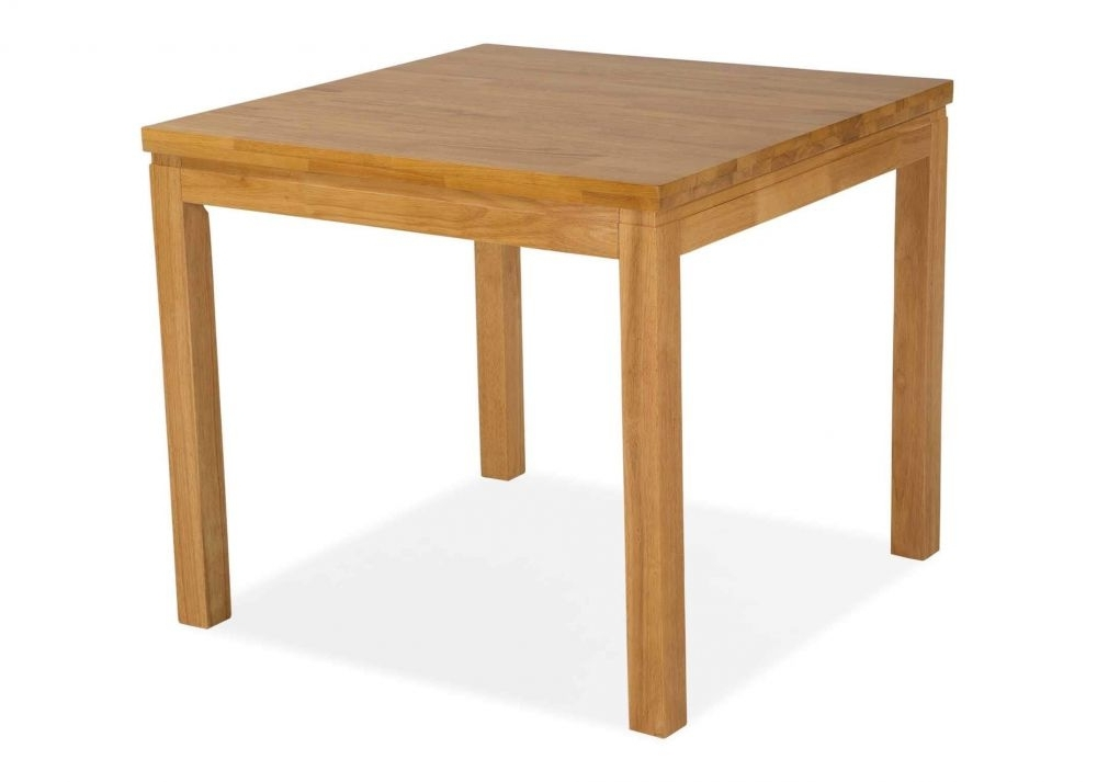 Small Oak Square Dining Table – Clare – Ez Living Furniture Within Widely Used Square Oak Dining Tables (View 4 of 20)