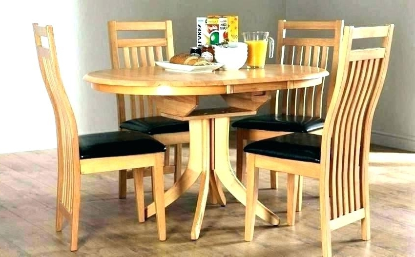 Small Round Dining Table With 4 Chairs With 2018 Dining Table 4 Chairs Brilliant Set Glass Ikea – Fondodepantalla (View 18 of 20)
