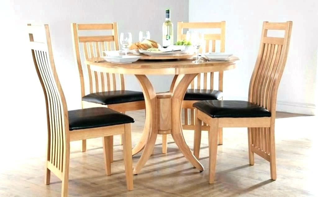 Small Round Dining Table With 4 Chairs With Latest Hygena Square Solid Wood Dining Table 4 Chairs Oak Limed And Tables (View 18 of 20)