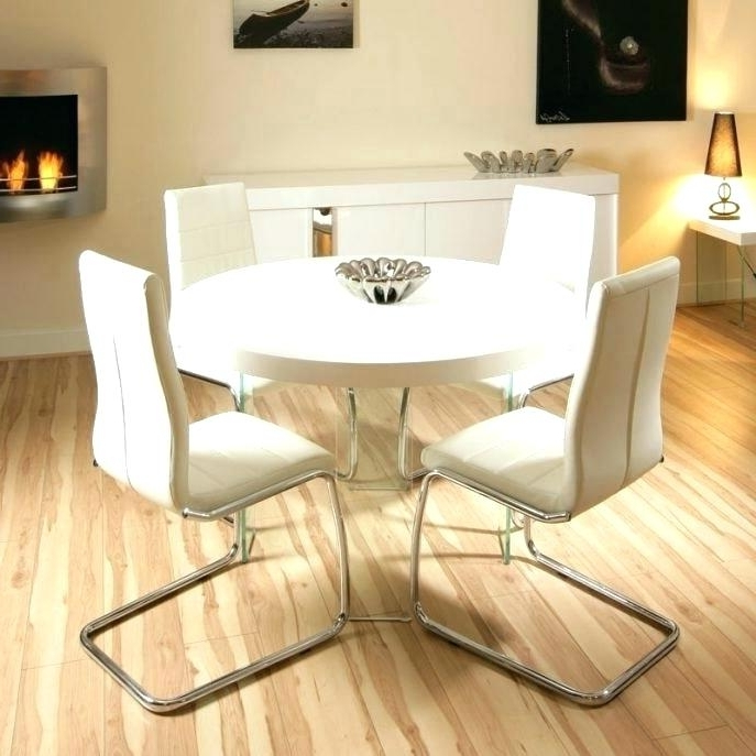 Small Round White Dining Tables Regarding Most Current Modern White Round Dining Table Small Round White Dining Table (View 17 of 20)