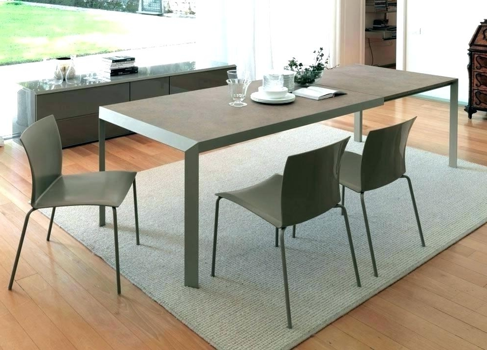 Small Square Extending Dining Tables In Most Current Extendable Dining Tables For Small Spaces Expandable Kitchen Tables (View 14 of 20)
