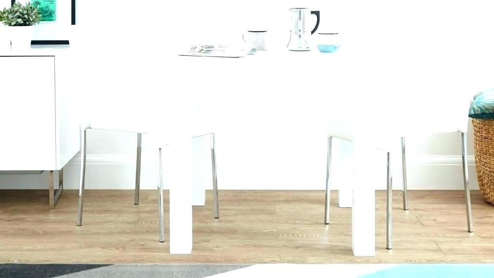 Small White Dining Table White Kitchen Table Chairs White Kitchen With Trendy White Gloss Dining Chairs (View 10 of 20)