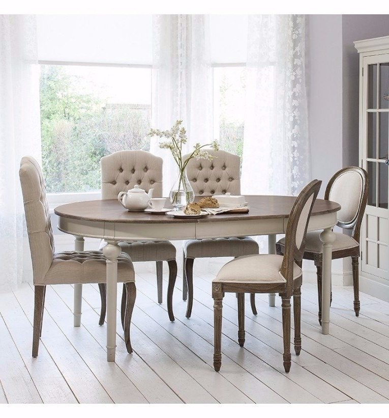 Smiths Maison Round Extending Table Cool Grey – Dining Tables In Favorite Dining Extending Tables And Chairs (View 20 of 20)
