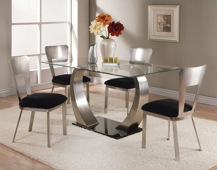 Smoked Glass Dining Table And Chairs D54 In Simple Interior Design For Well Known Smoked Glass Dining Tables And Chairs (View 15 of 20)
