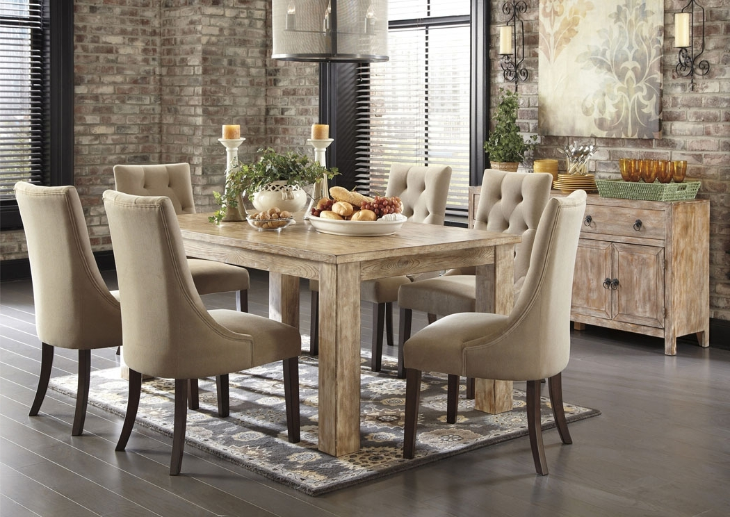 Snellville, Ga Mestler Washed Brown Rectangular Within 2018 Rectangular Dining Tables Sets (View 19 of 20)