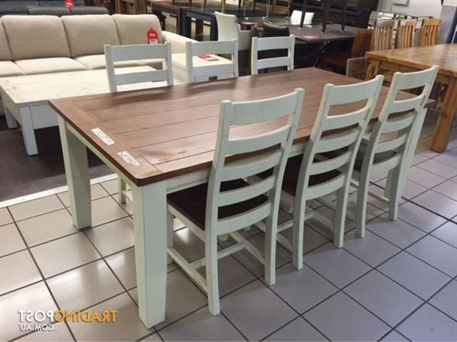 Snowy River Dining Set (7 Pieces) For Sale In Logan Within Logan 7 Piece Dining Sets (View 12 of 20)