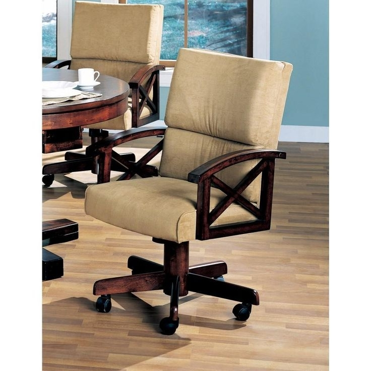 Snug Upholstered Arm Game Chair , Brown In  (View 15 of 20)