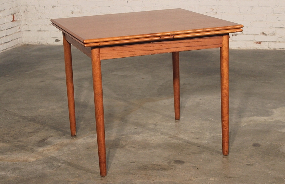 Sold – Danish Modern Teak Square Expanding Dining Table – With Regard To Current Danish Dining Tables (View 17 of 20)