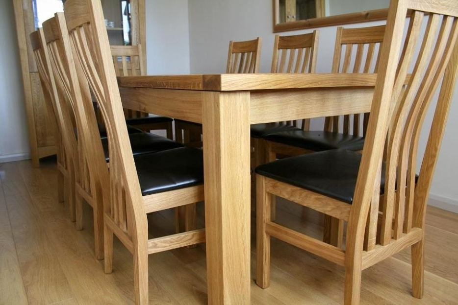 Solid Oak Dining Table Sets (View 16 of 20)