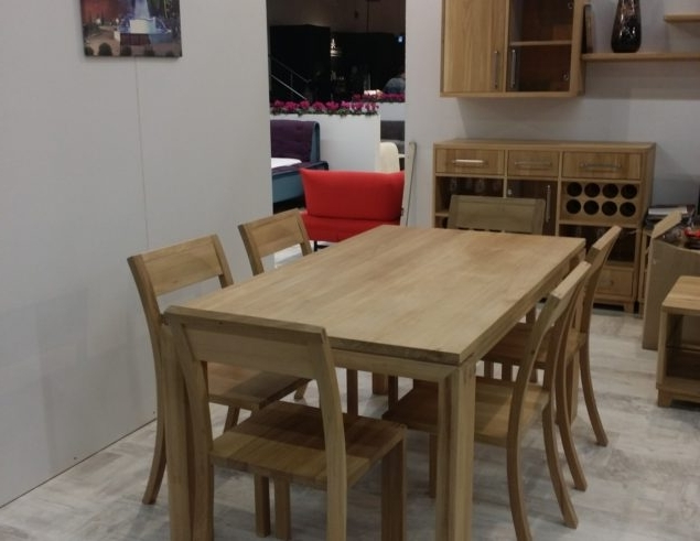Solid Oak Dining Table With 6 Chairs • Soligna Throughout Most Popular Solid Oak Dining Tables (View 13 of 20)