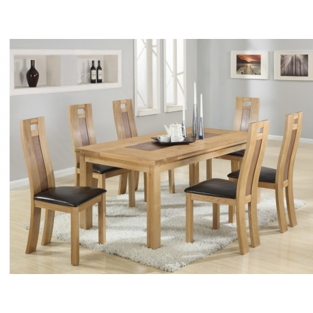 Solid Oak Dining Tables And 6 Chairs Inside Well Liked Harvard Solidoak Dining Table + 6 Chairs – Forever Furnishings (Gallery 7 of 20)