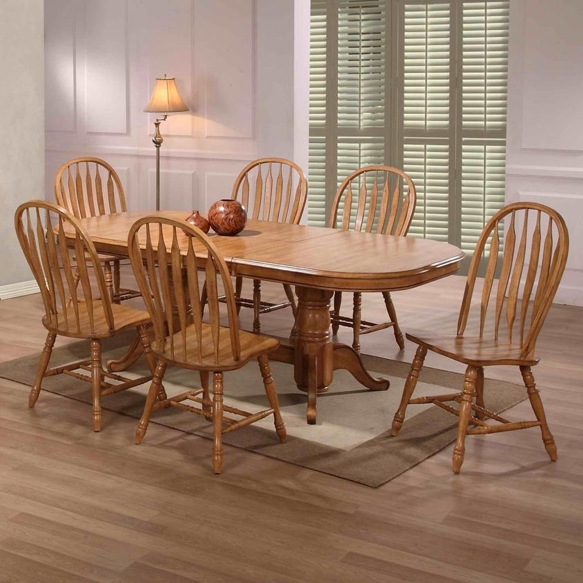 Solid Oak Dining Tables And 6 Chairs Throughout Widely Used Flowy Solid Oak Dining Table With 6 Chairs D86 On Creative Home (View 15 of 20)