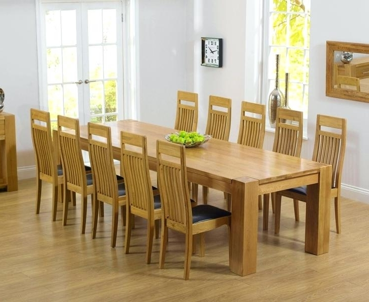 Solid Oak Dining Tables And 8 Chairs For Popular Oak Dining Table And 8 Chairs Sensational Dining Room Decoration (View 14 of 20)