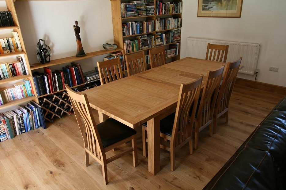Solid Oak Dining Tables And 8 Chairs Throughout Widely Used Tallinn Oak Dining Sets (View 16 of 20)