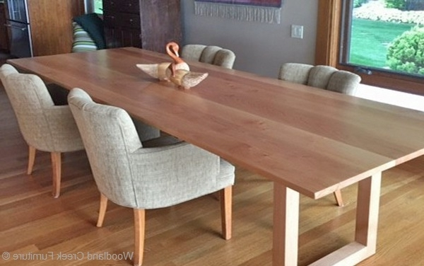 Solid Wood Contemporary Dining Table, Custom Made Dining Table Throughout Most Up To Date Contemporary Dining Tables (View 8 of 20)