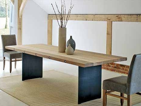 Solid Wood Dining Table Inside Well Known Sleek Dining Tables (View 8 of 20)