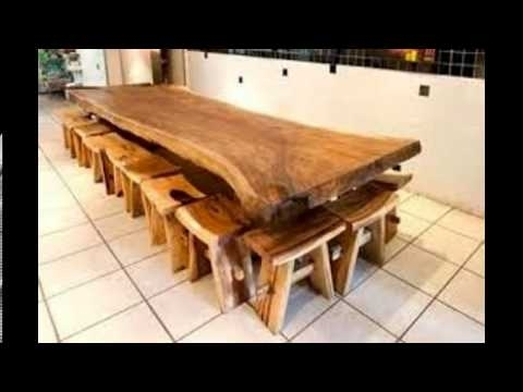 Solid Wood Dining Table – Youtube Pertaining To Trendy Solid Wood Dining Tables (View 6 of 20)