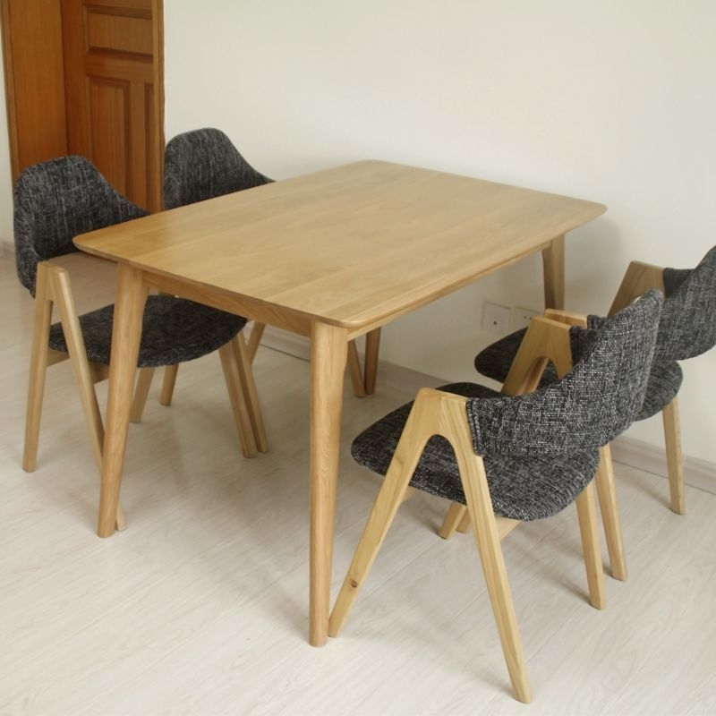 Solid Wood Dining Tables And Chairs Combination Square Oak Dining Intended For Widely Used Square Oak Dining Tables (Gallery 11 of 20)