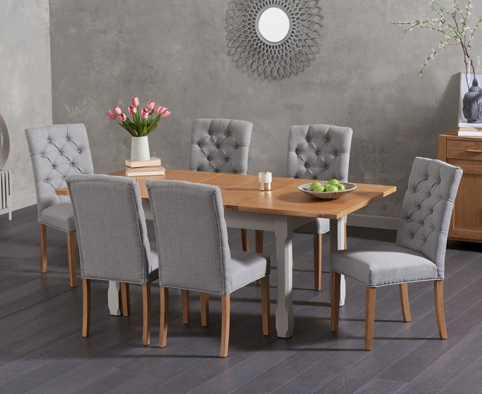 Somerset 130Cm Oak And Grey Extending Dining Table With Candice Grey Inside Famous Candice Ii 5 Piece Round Dining Sets (View 20 of 20)