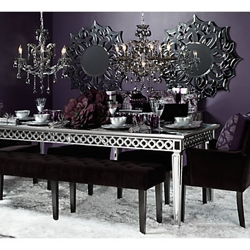 Sophie Mirrored Dining Table Regarding Most Recent Mirrored Dining Tables (View 17 of 20)