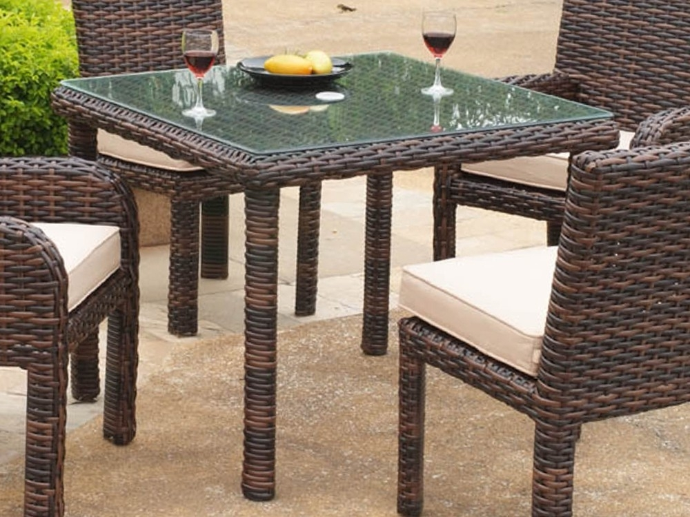 South Sea Rattan Saint Tropez Wicker Square Dining Table – Wicker Regarding Trendy Rattan Dining Tables (View 18 of 20)