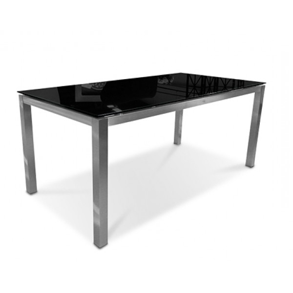 Sphere Glass Dining Table 180Cm Black In Preferred Square Black Glass Dining Tables (View 14 of 20)