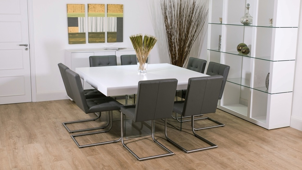 Square Dining Tables For Most Up To Date White Square Dining Table For  (View 10 of 20)