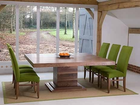 Square Dining Tables In Solid Oak & Walnut, Extending Square Tables For Well Known Square Dining Tables (View 12 of 20)