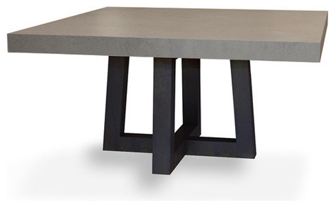 Square Dining Tables Pertaining To Current Torre Square Concrete Dining Table – Modern – Dining Tables – (View 15 of 20)