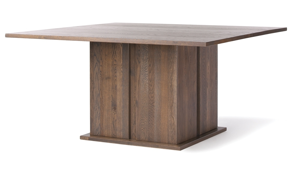 Square Oak Dining Tables Inside Famous Quercus Solid Oak 5 5 Square Dining Table – Con Tempo Furniture (Gallery 8 of 20)