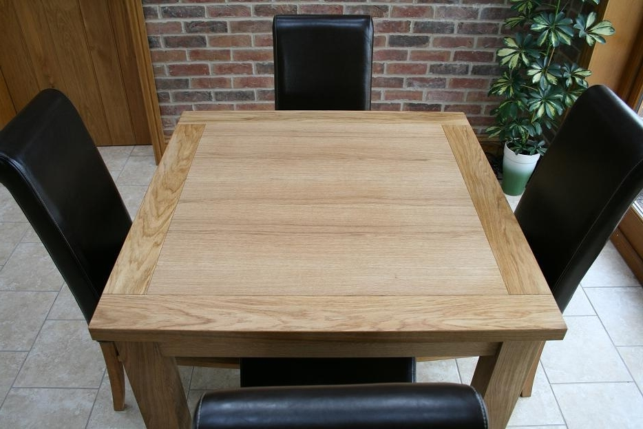 Square Oak Dining Tables Within 2017 Cheap Dining Tables And Chairs From Oakdiningsets (Gallery 14 of 20)