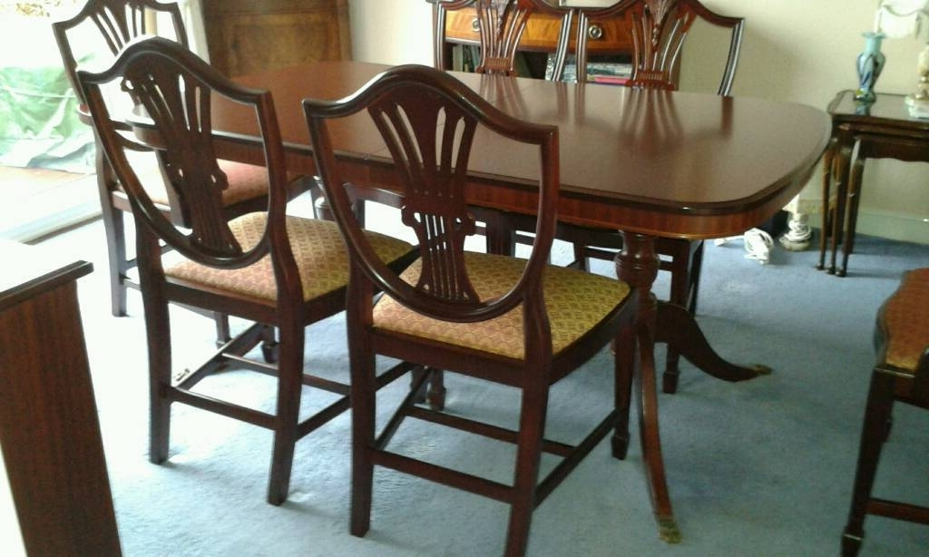 Stag Sheridan Mahogany Extending Dining Table With 6 Chairs (Gallery 1 of 20)
