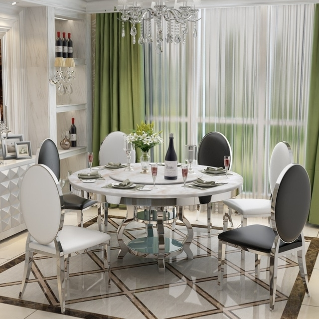 Stainless Steel Dining Room Set Home Furniture Minimalist Modern Inside Most Current Glass And Stainless Steel Dining Tables (View 19 of 20)