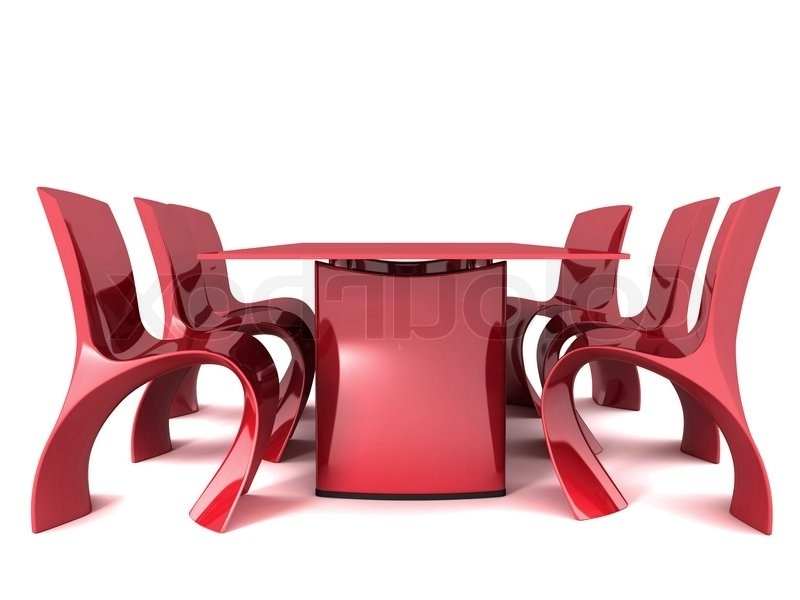 Stock For Latest Red Dining Tables And Chairs (View 14 of 20)