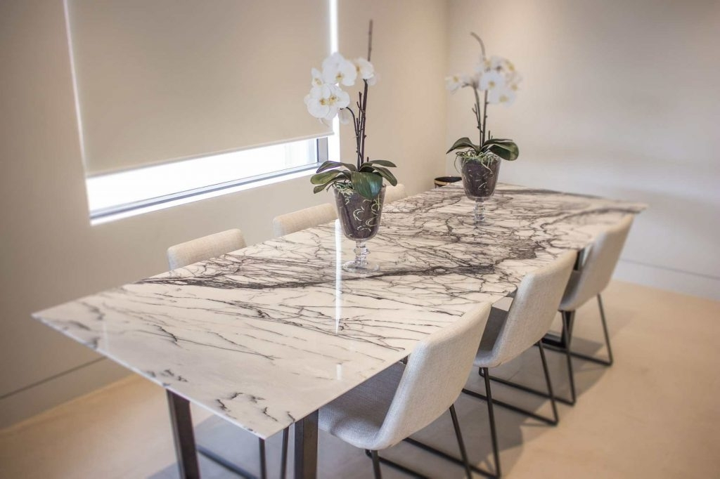 Stone Dining Tables Regarding Widely Used Modern & Natural Stone Dining Table Design And Images (View 12 of 20)