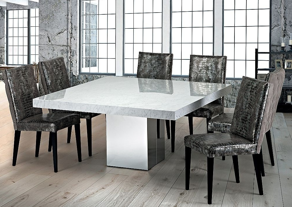 Stone International – 3266/sq – Dining Table – Square – Cortina Throughout Current Stone Dining Tables (View 13 of 20)