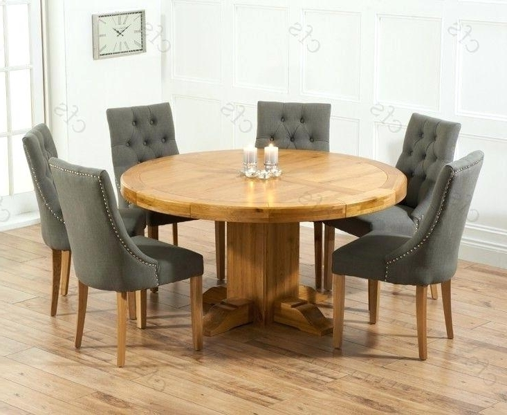 Stylish Round Dining Table For 6 And Chairs On Glass With Amazing Pertaining To Recent 6 Seater Round Dining Tables (View 15 of 20)