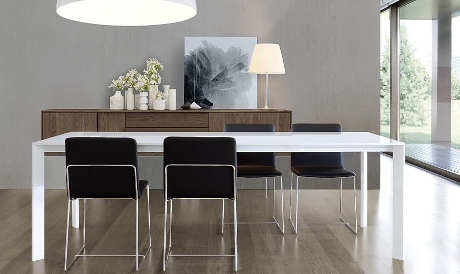 Super Sleek Dining Table Brings Minimalism To Your Home With Most Recent Sleek Dining Tables (View 4 of 20)