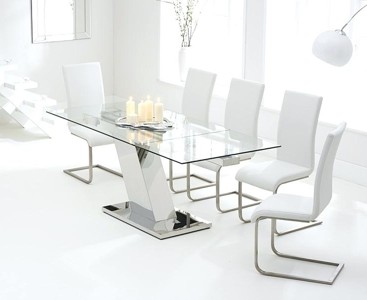 Table 140 Cm Mark Harris Lamont Glass Dining Set 140Cm Rectangular With Well Known White Gloss Dining Tables 140Cm (View 12 of 20)