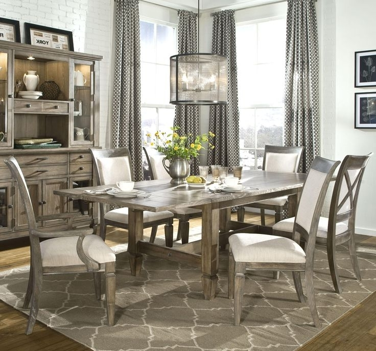 Table Settings, Dining With Caira Black 7 Piece Dining Sets With Upholstered Side Chairs (View 11 of 20)