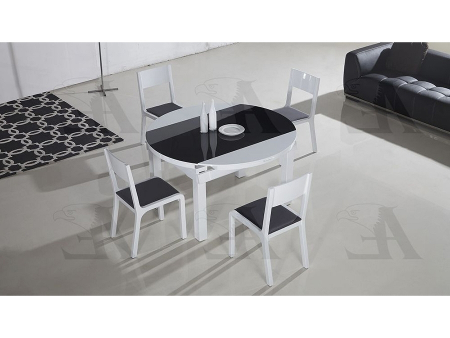 Table Top Extendable Dining Table Set In Black & White – Shop For In Popular Black Extendable Dining Tables Sets (View 15 of 20)