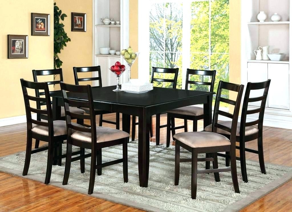 Table With 8 Chairs 8 Chair Square Dining Table 8 Chair Square With 2018 Dining Tables With 8 Chairs (View 16 of 20)