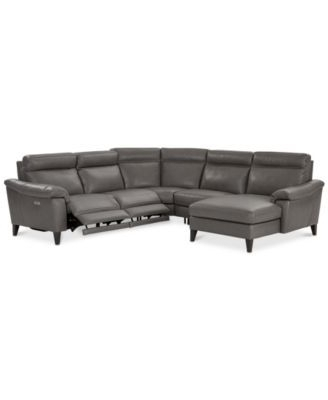 Tatum Dark Grey 2 Piece Sectionals With Laf Chaise Inside Well Known Closeout! Pirello 5 Pc (View 7 of 15)