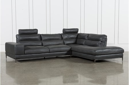 Tatum Dark Grey 2 Piece Sectionals With Raf Chaise Inside Well Known Living Spaces Leather Sectional – Implantologiabogota (View 7 of 15)