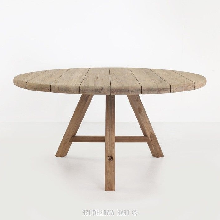 Teak Dining Tables (13 Images) – Xuyuan Tables Regarding Most Current Round Teak Dining Tables (View 16 of 20)