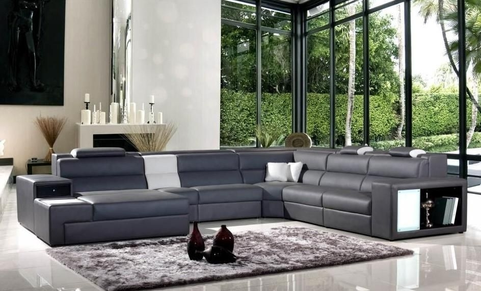 Tenny Dark Grey 2 Piece Left Facing Chaise Sectional W Headrest Throughout Famous Tenny Dark Grey 2 Piece Left Facing Chaise Sectionals With 2 Headrest (View 3 of 15)