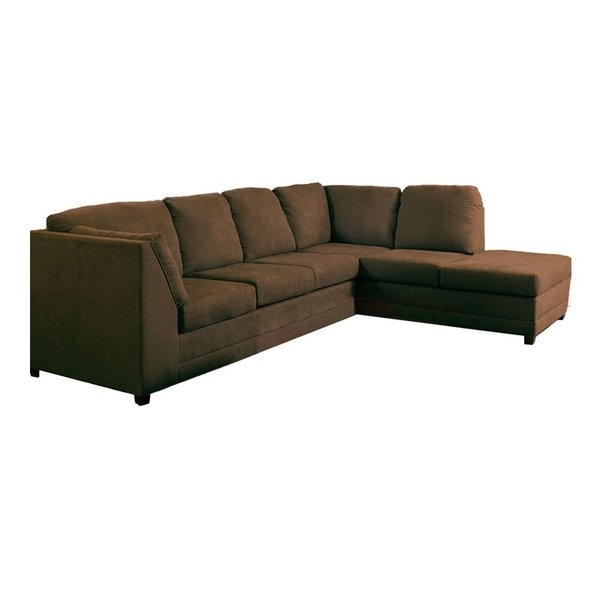 Tenny Dark Grey 2 Piece Right Facing Chaise Sectionals With 2 Headrest Regarding Recent Nailheads Sectionals You'll Love (View 3 of 15)