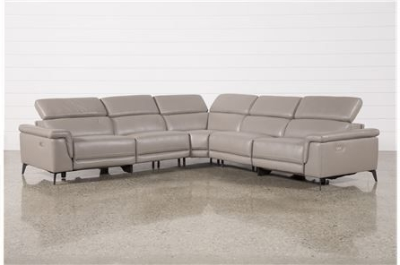 Thatcher Grey Pertaining To Fashionable Marcus Grey 6 Piece Sectionals With  Power Headrest & Usb (View 15 of 15)